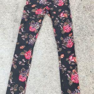 Divided Floral print jean leggings (6)